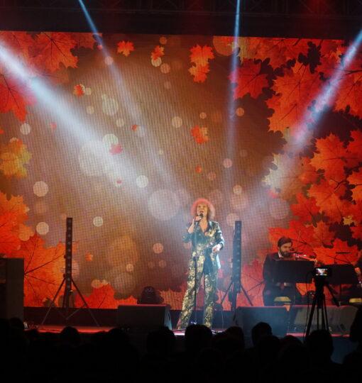A. Rybiński i A. Majewska zaśpiewali dla starogardzkich seniorów